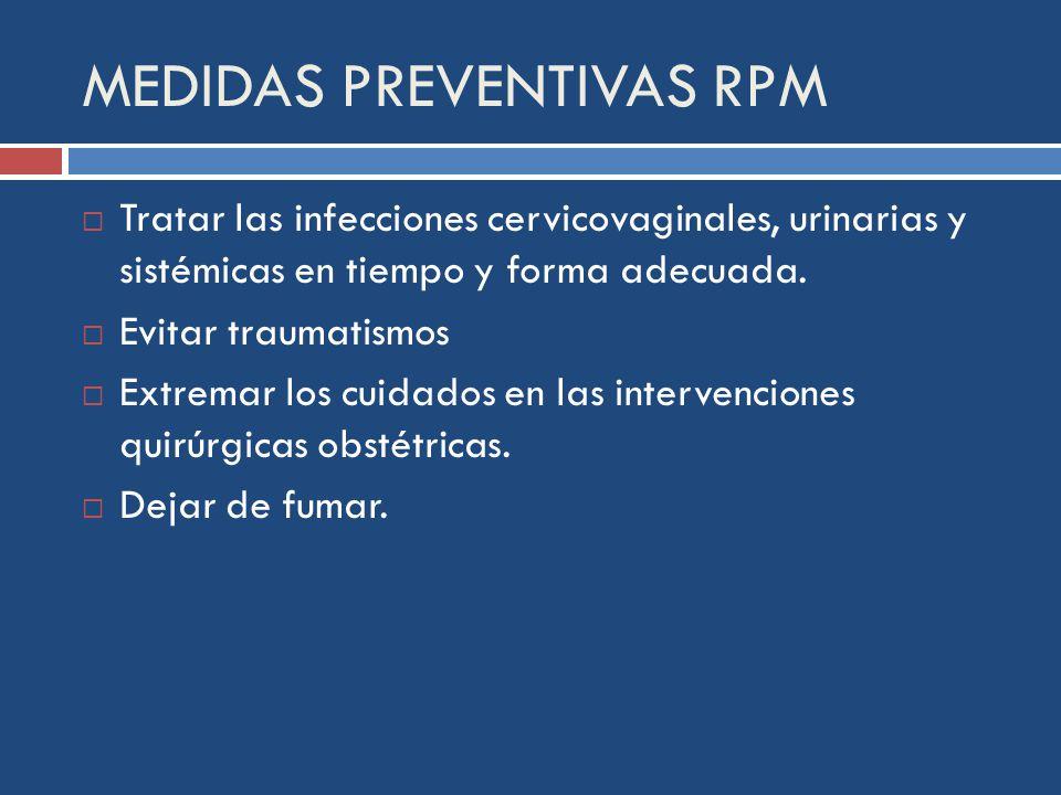 MEDIDAS PREVENTIVAS RPM