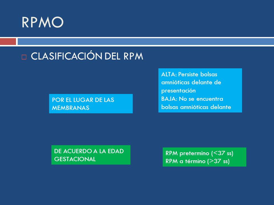 RPMO CLASIFICACIÓN DEL RPM