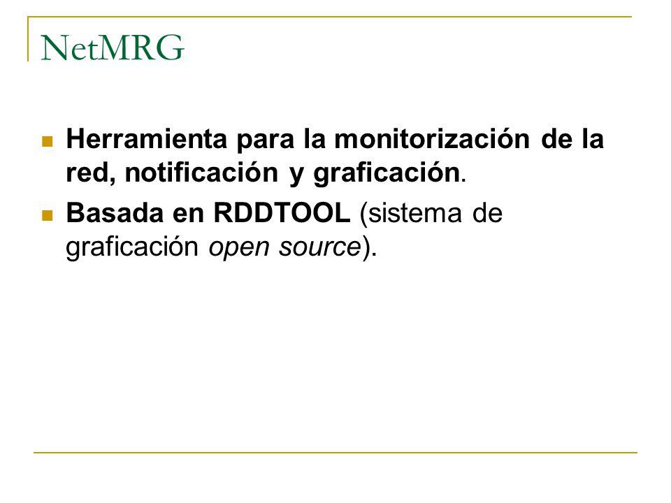 NetMRG Herramienta para la monitorización de la red, notificación y graficación.