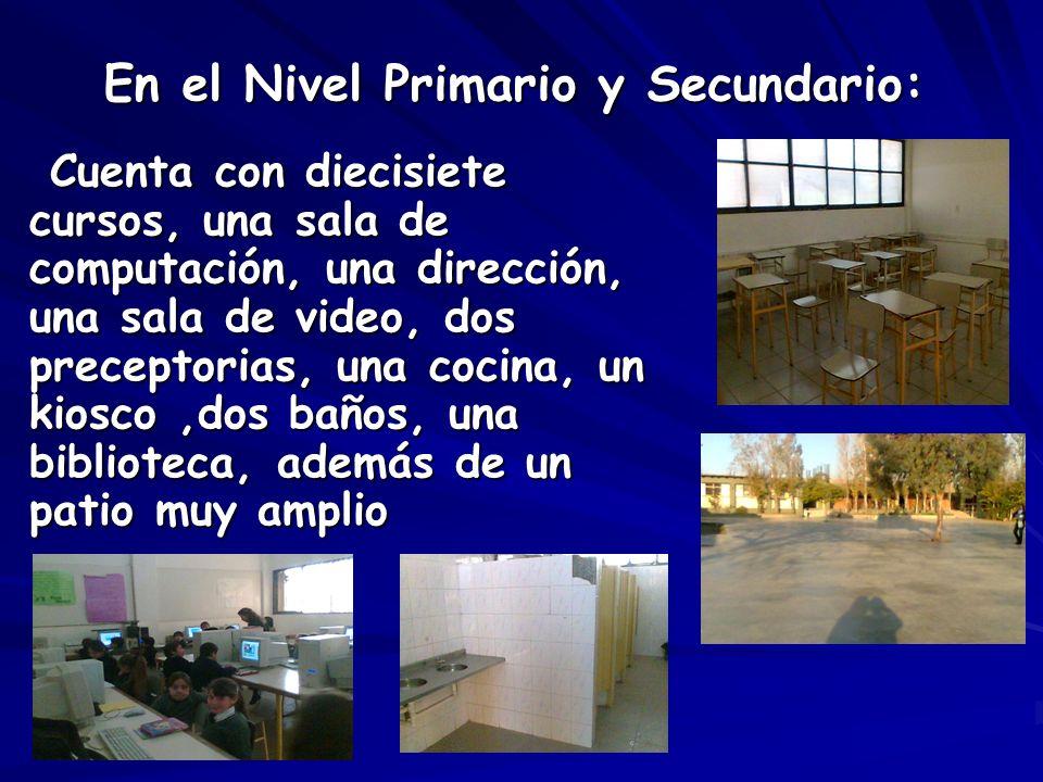 En el Nivel Primario y Secundario: