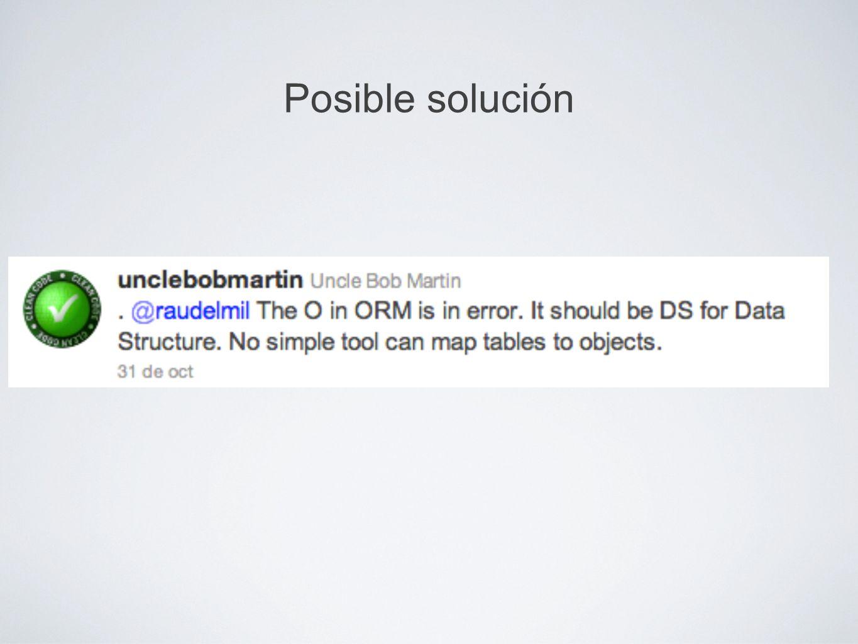 Posible solución
