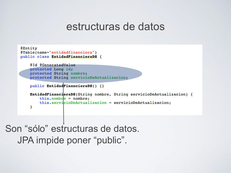 estructuras de datos Son sólo estructuras de datos.
