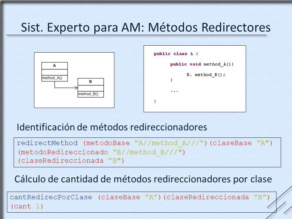 Sist. Experto para AM: Métodos Redirectores