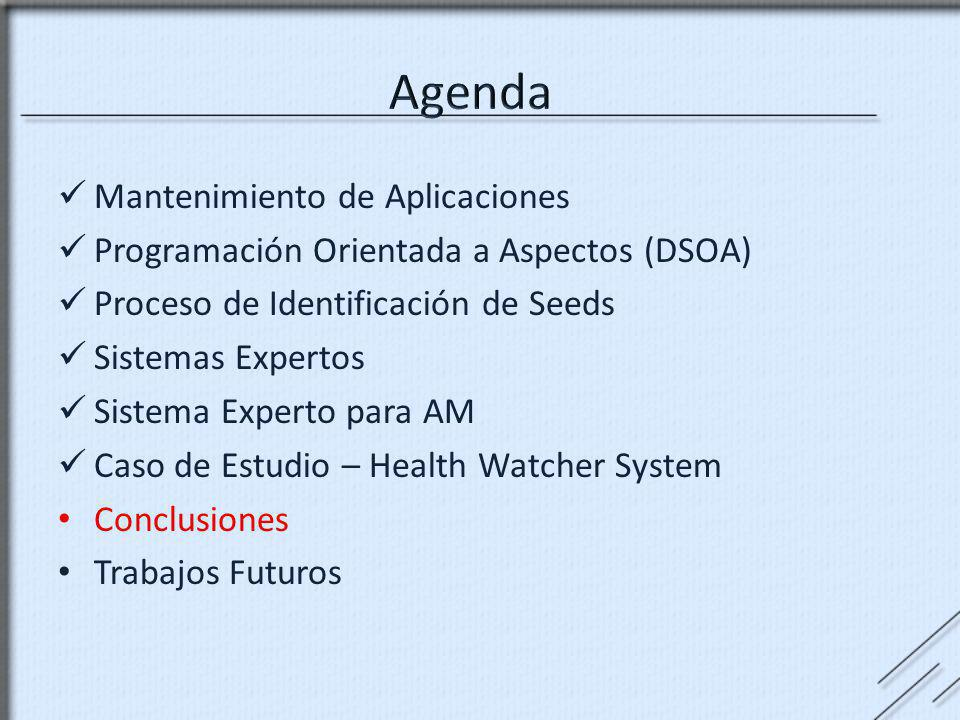Agenda Mantenimiento de Aplicaciones