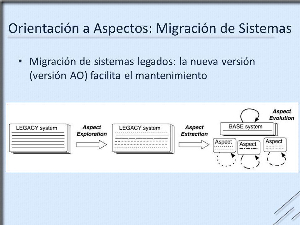 Orientación a Aspectos: Migración de Sistemas