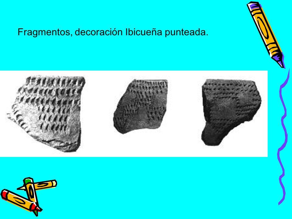 Fragmentos, decoración Ibicueña punteada.