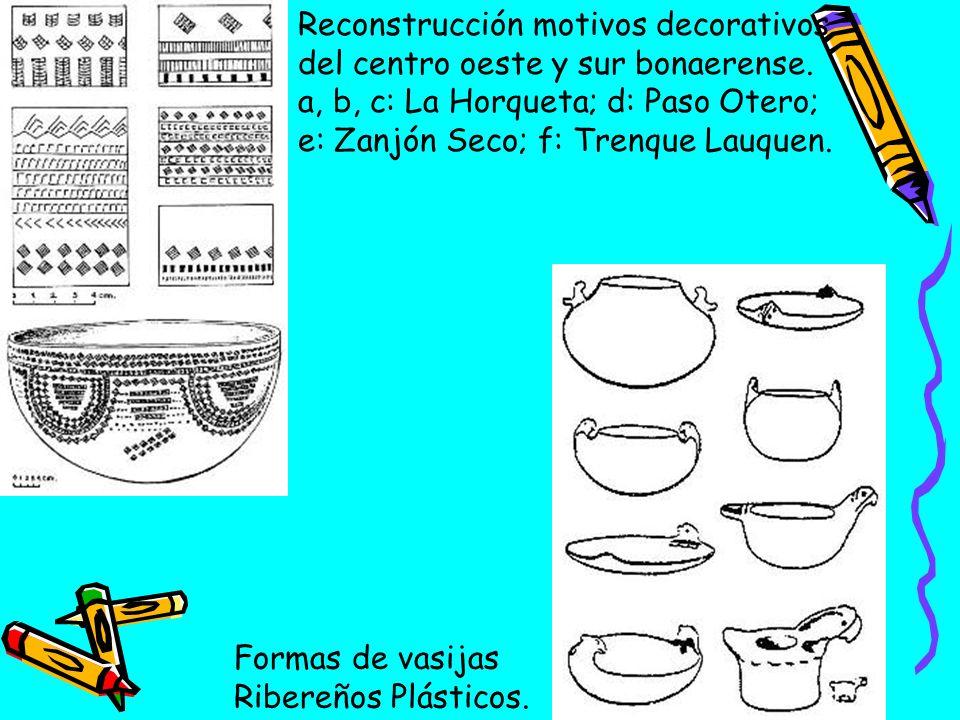 Reconstrucción motivos decorativos del centro oeste y sur bonaerense