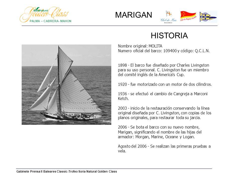 PALMA – CABRERA- MAHONMARIGAN. HISTORIA.