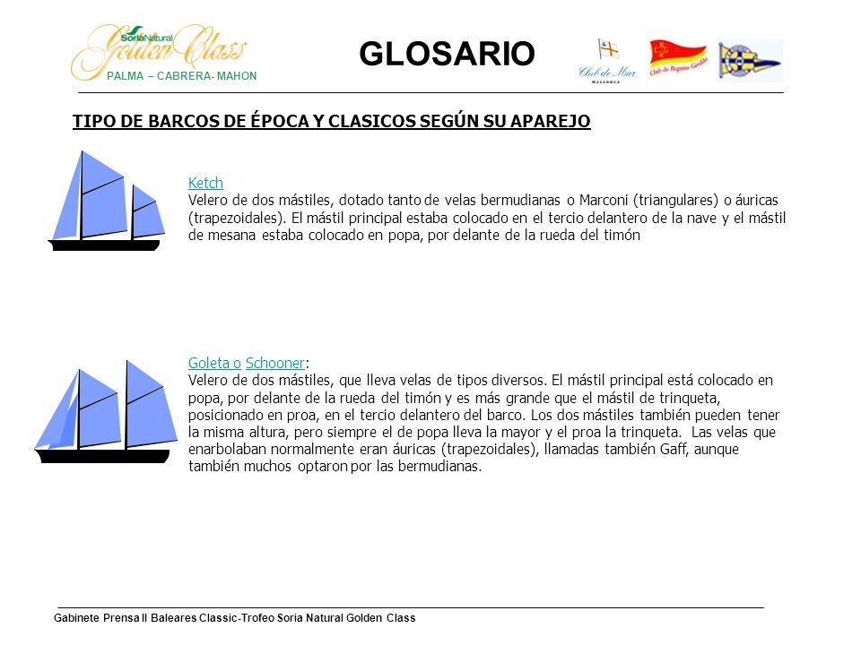 GLOSARIO TIPO DE BARCOS DE ÉPOCA Y CLASICOS SEGÚN SU APAREJO Ketch