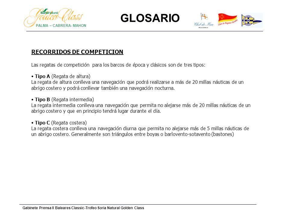 GLOSARIO RECORRIDOS DE COMPETICION