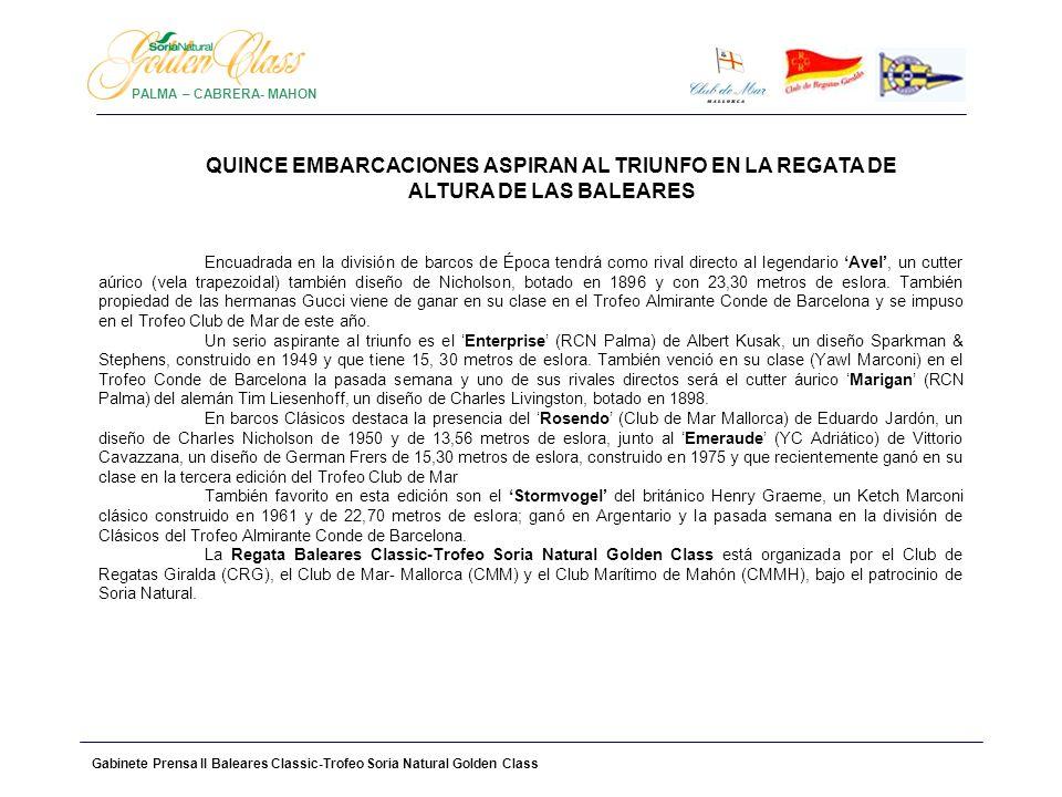 PALMA – CABRERA- MAHONQUINCE EMBARCACIONES ASPIRAN AL TRIUNFO EN LA REGATA DE ALTURA DE LAS BALEARES.