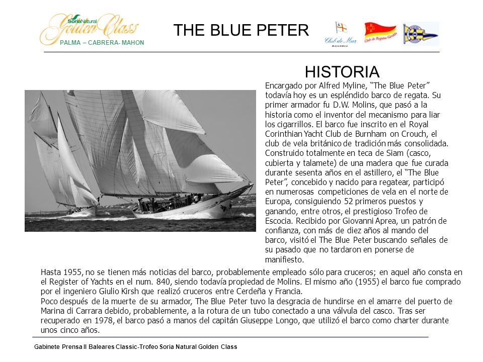 THE BLUE PETER HISTORIA