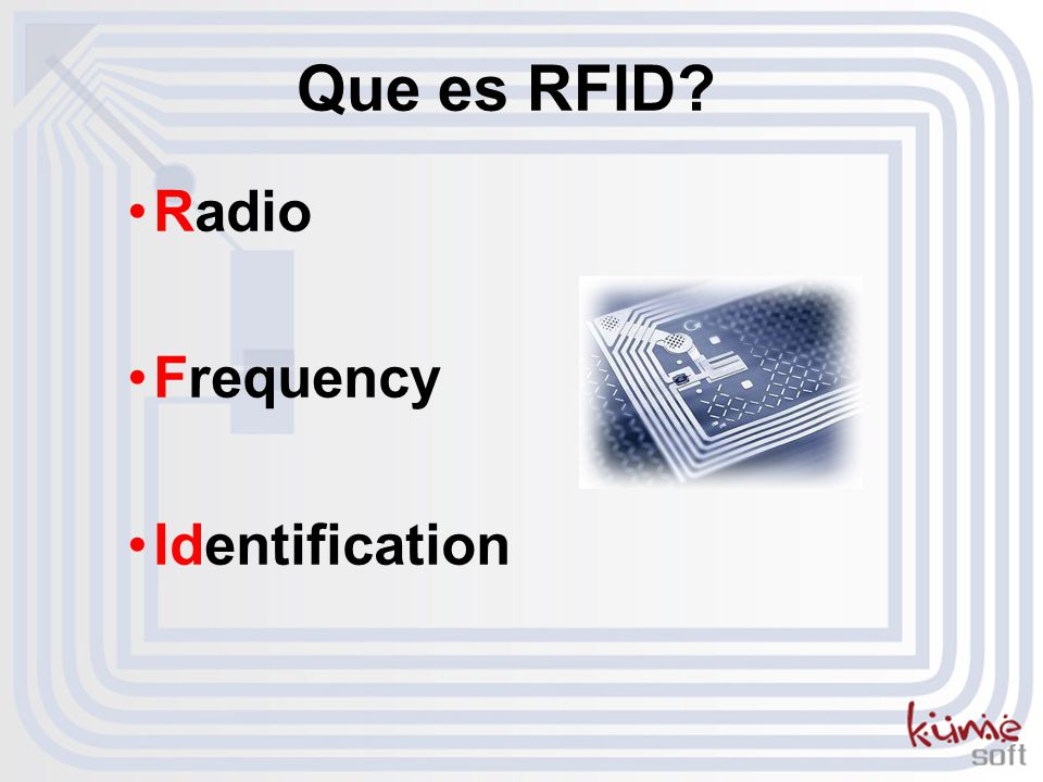 Que es RFID Radio Frequency Identification