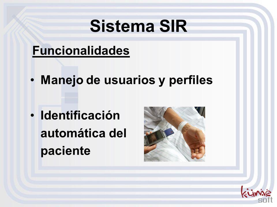 Sistema SIR Funcionalidades Manejo de usuarios y perfiles