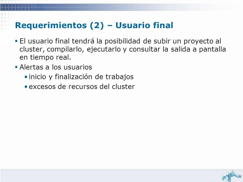 Requerimientos (2) – Usuario final