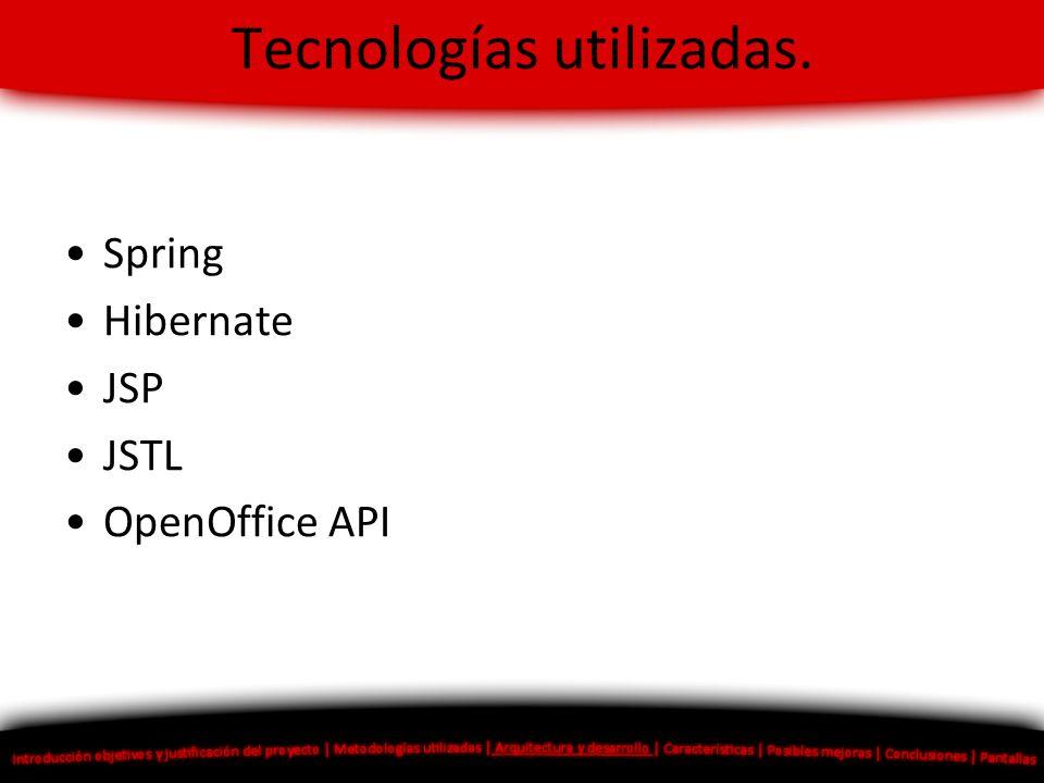 Tecnologías utilizadas.