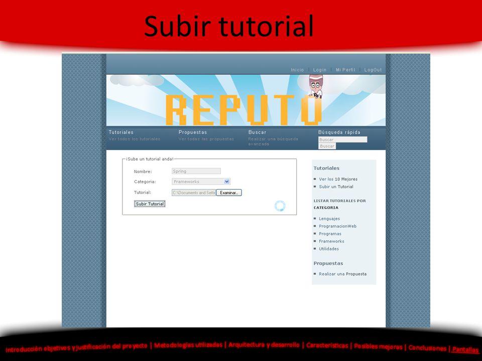 Subir tutorial