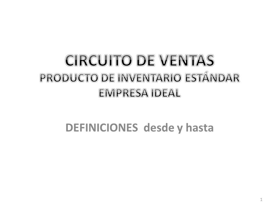 CIRCUITO DE VENTAS PRODUCTO DE INVENTARIO ESTÁNDAR EMPRESA IDEAL