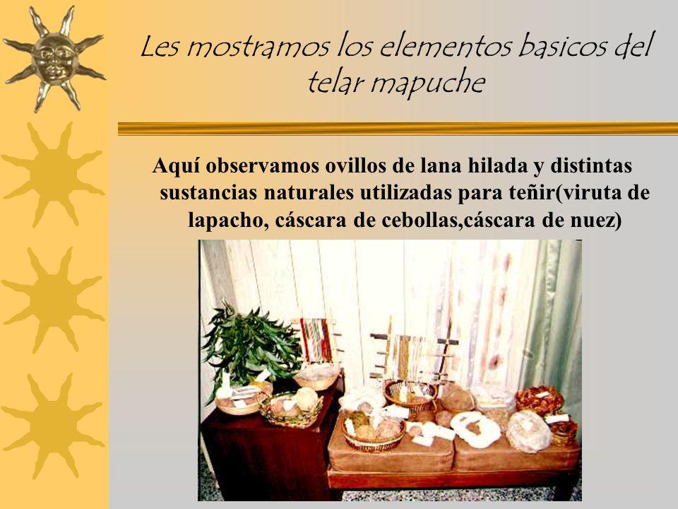 Les mostramos los elementos basicos del telar mapuche