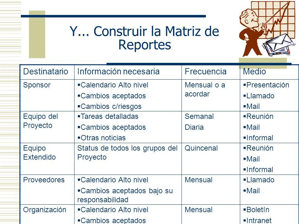 Y... Construir la Matriz de Reportes