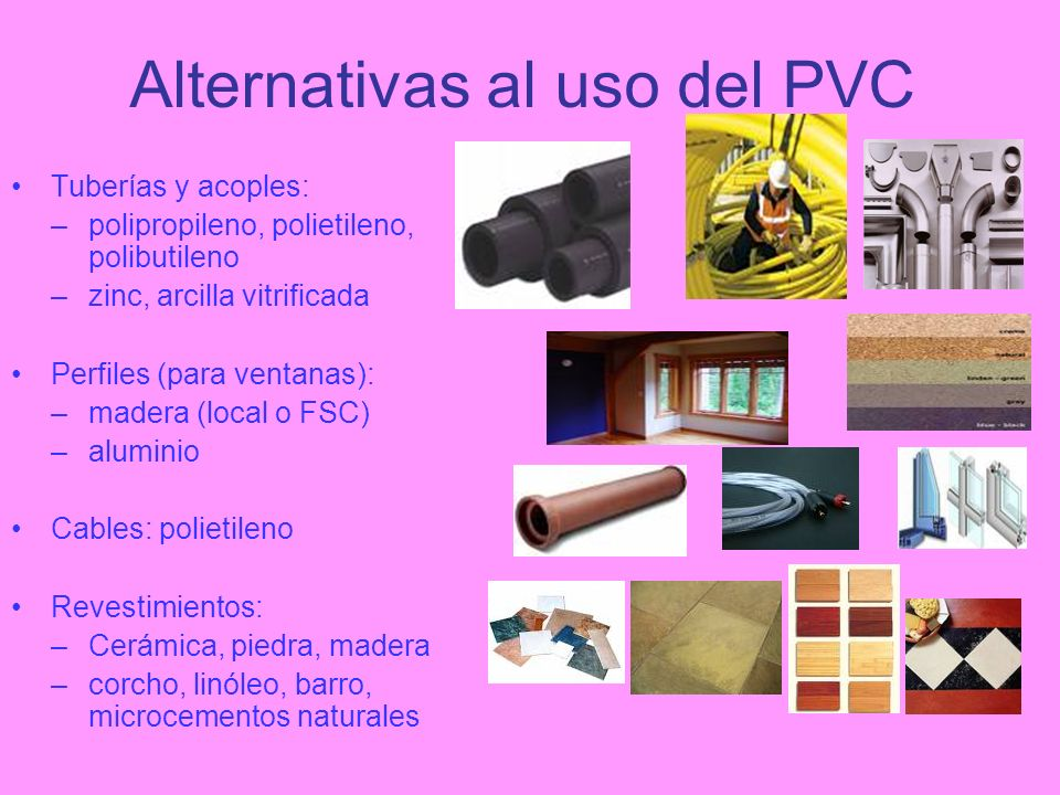 Alternativas al uso del PVC