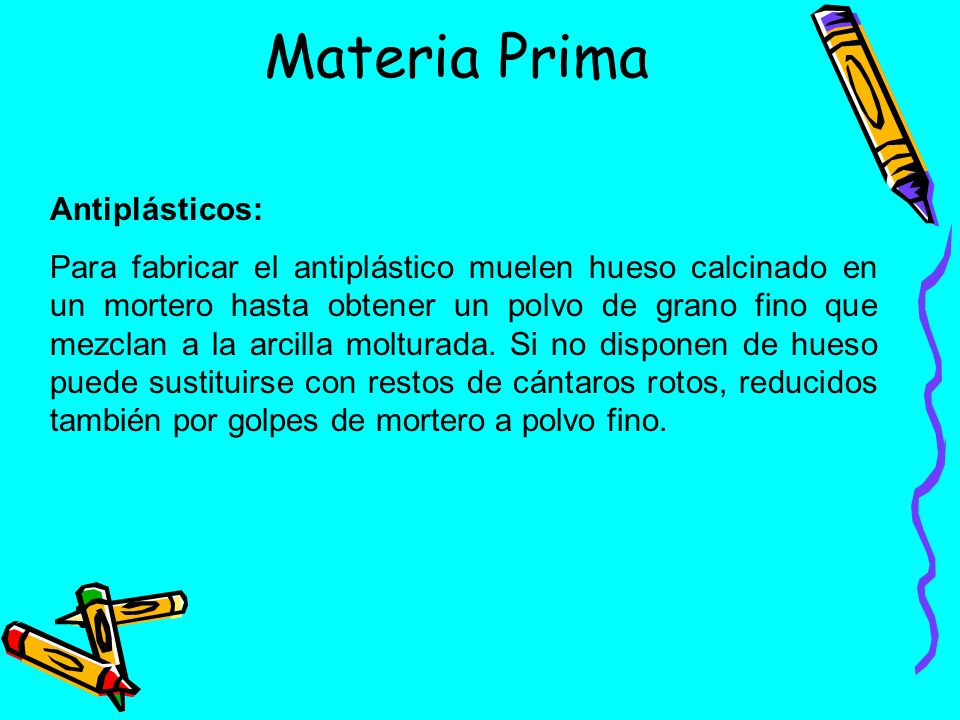 Materia Prima Antiplásticos:
