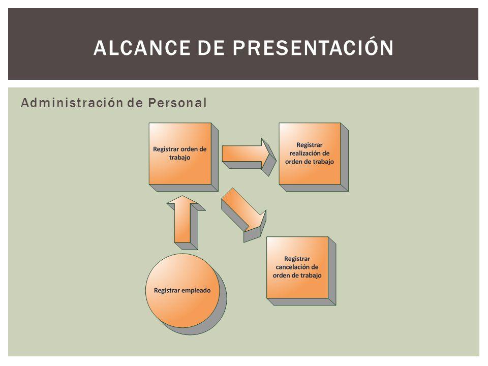 ALCANCE DE PRESENTACIÓN