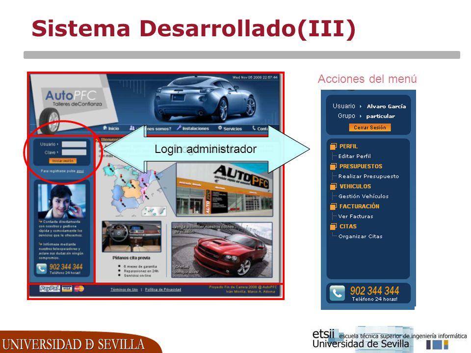 Sistema Desarrollado(III)