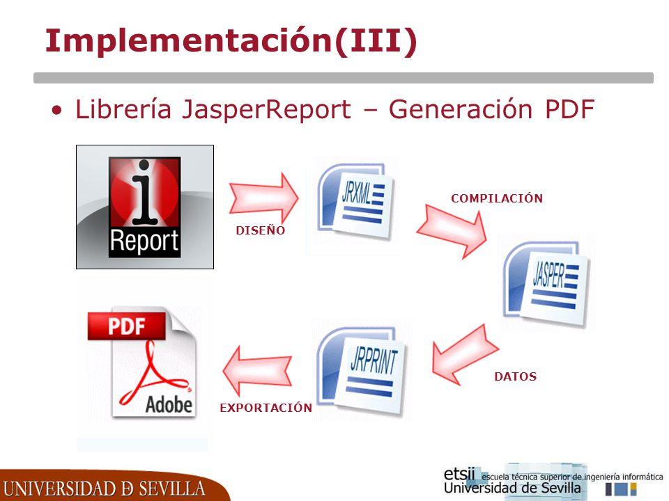 Implementación(III) Librería JasperReport – Generación PDF COMPILACIÓN