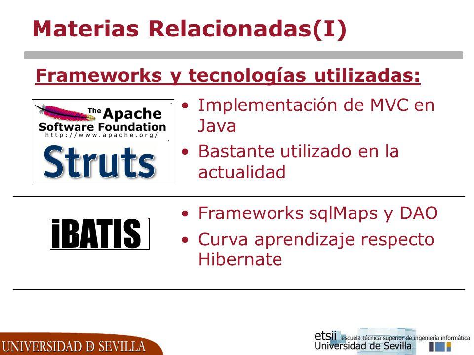 Materias Relacionadas(I)