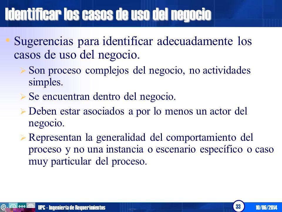 Identificar los casos de uso del negocio