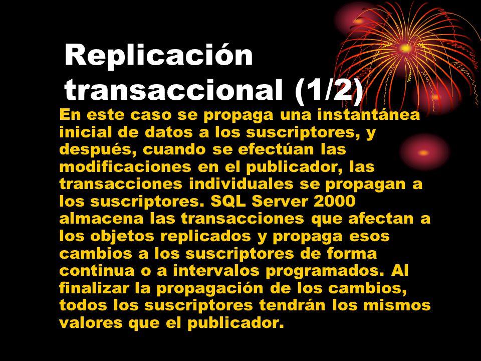 Replicación transaccional (1/2)