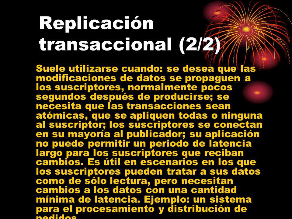 Replicación transaccional (2/2)