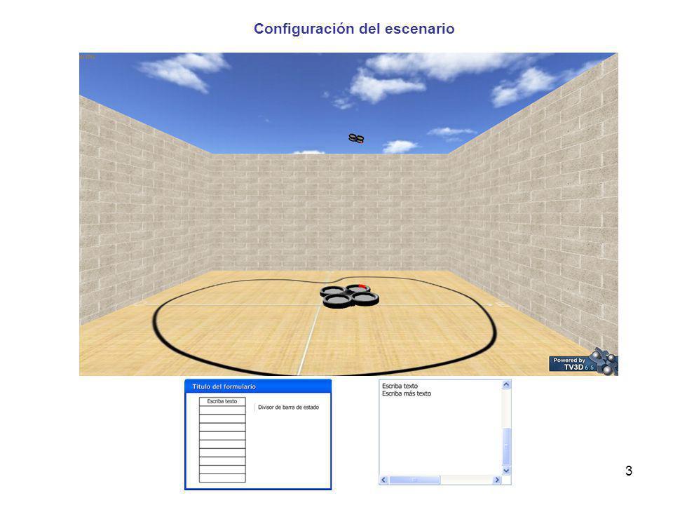 Configuración del escenario