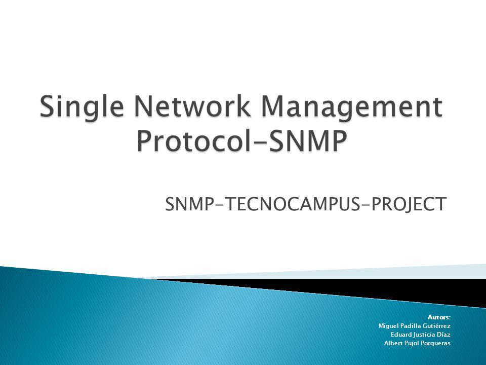 SNMP-TECNOCAMPUS-PROJECT