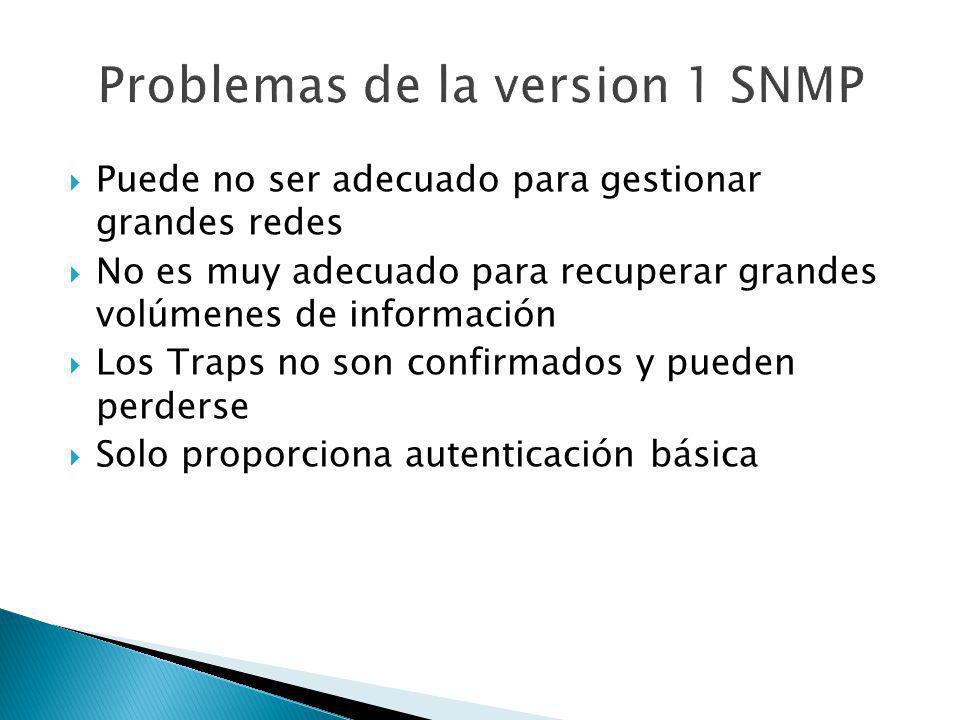 Problemas de la version 1 SNMP