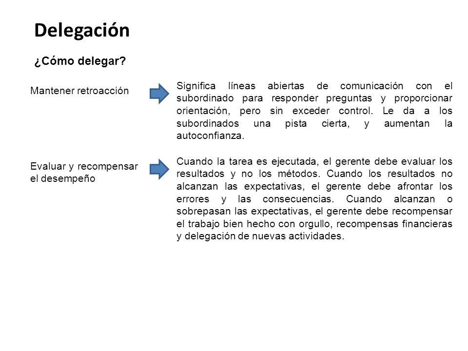 Delegación ¿Cómo delegar