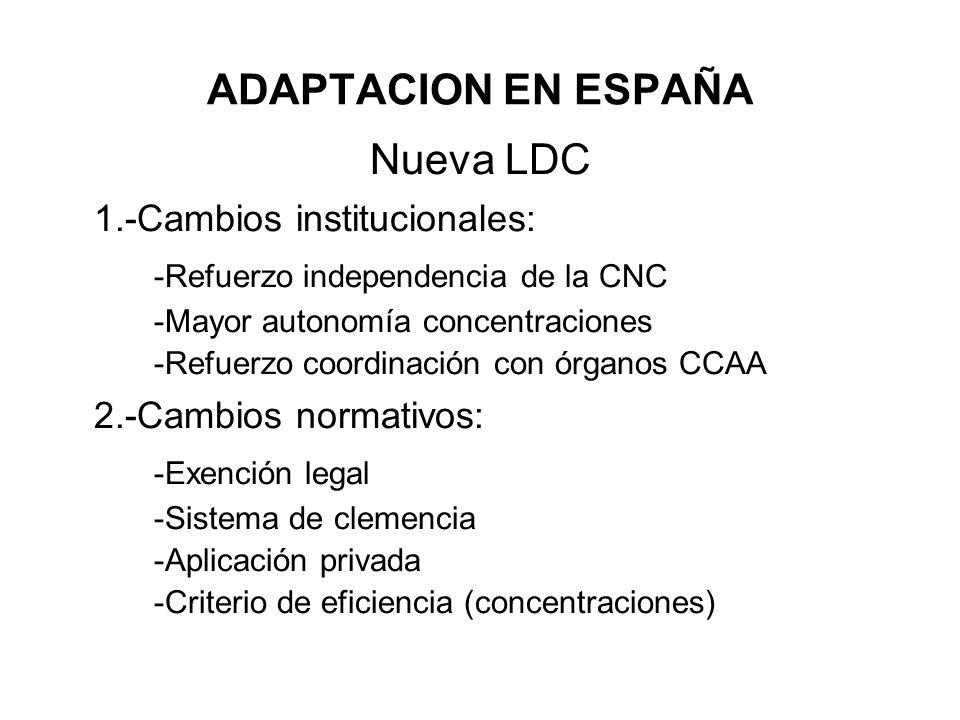 1.-Cambios institucionales: -Refuerzo independencia de la CNC