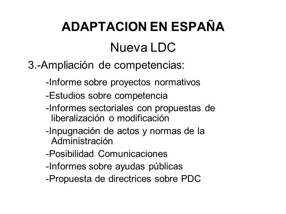 3.-Ampliación de competencias: -Informe sobre proyectos normativos