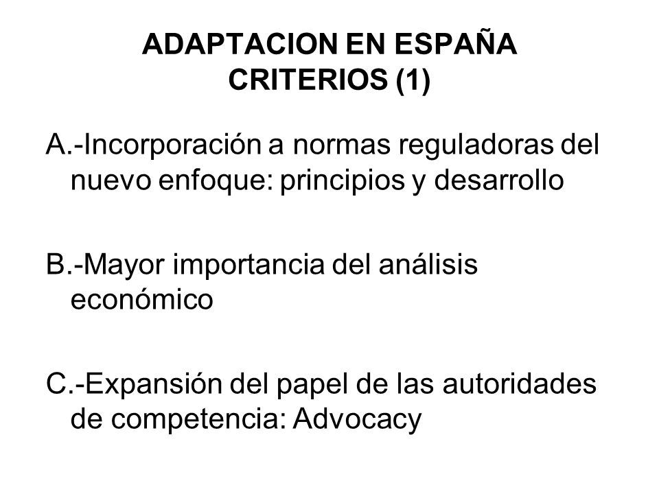 ADAPTACION EN ESPAÑA CRITERIOS (1)