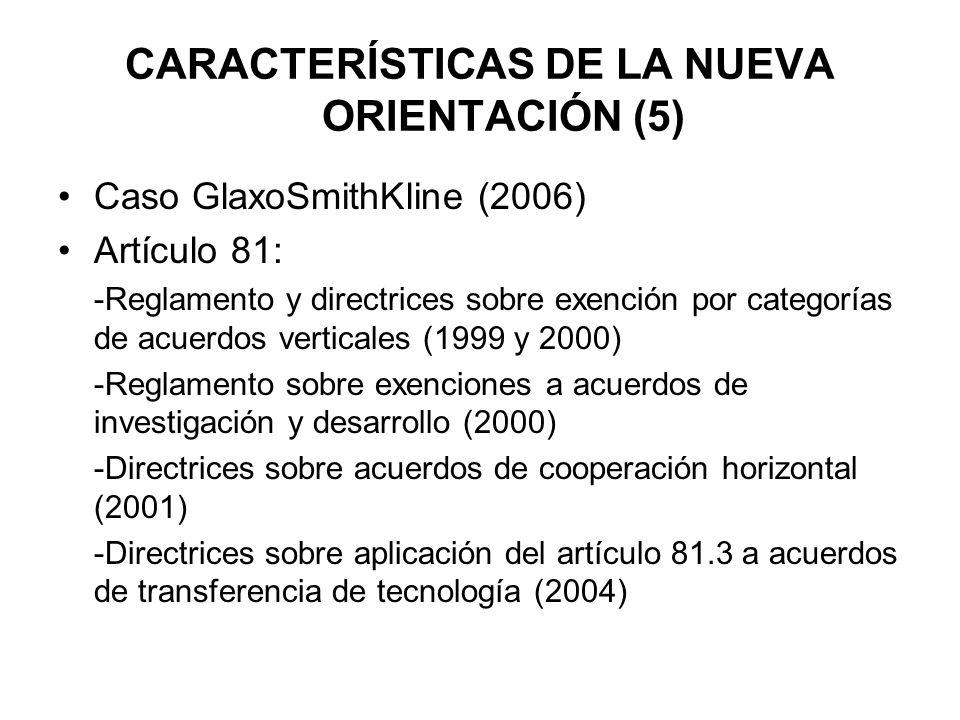 CARACTERÍSTICAS DE LA NUEVA ORIENTACIÓN (5)