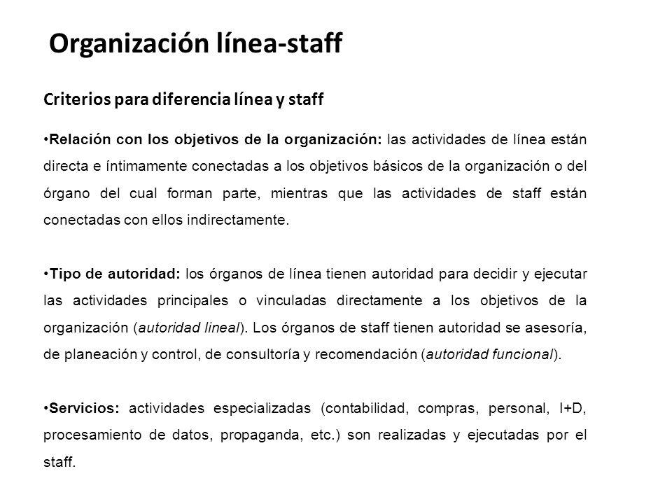 Organización línea-staff