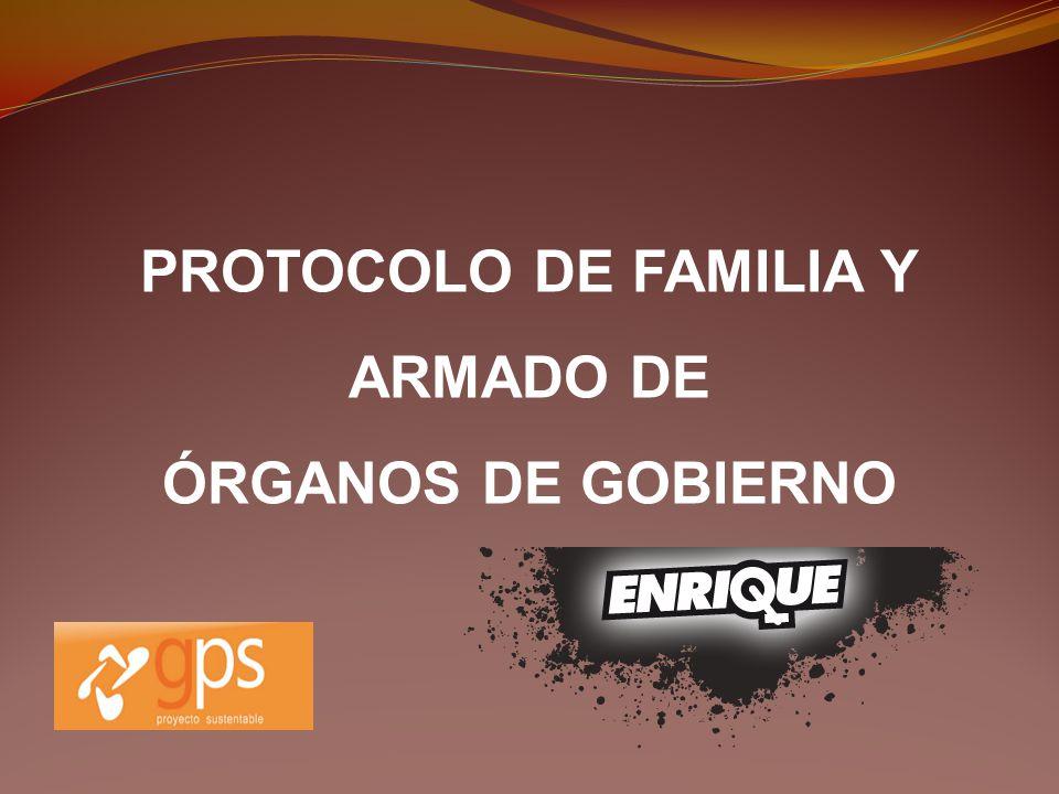 PROTOCOLO DE FAMILIA Y ARMADO DE ÓRGANOS DE GOBIERNO