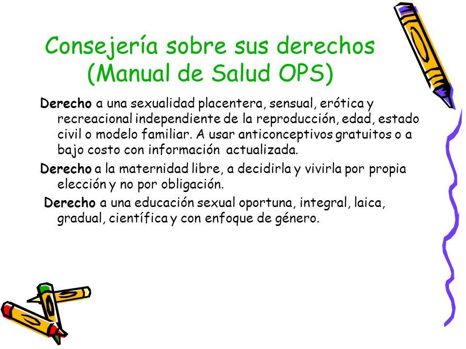Consejería sobre sus derechos (Manual de Salud OPS)