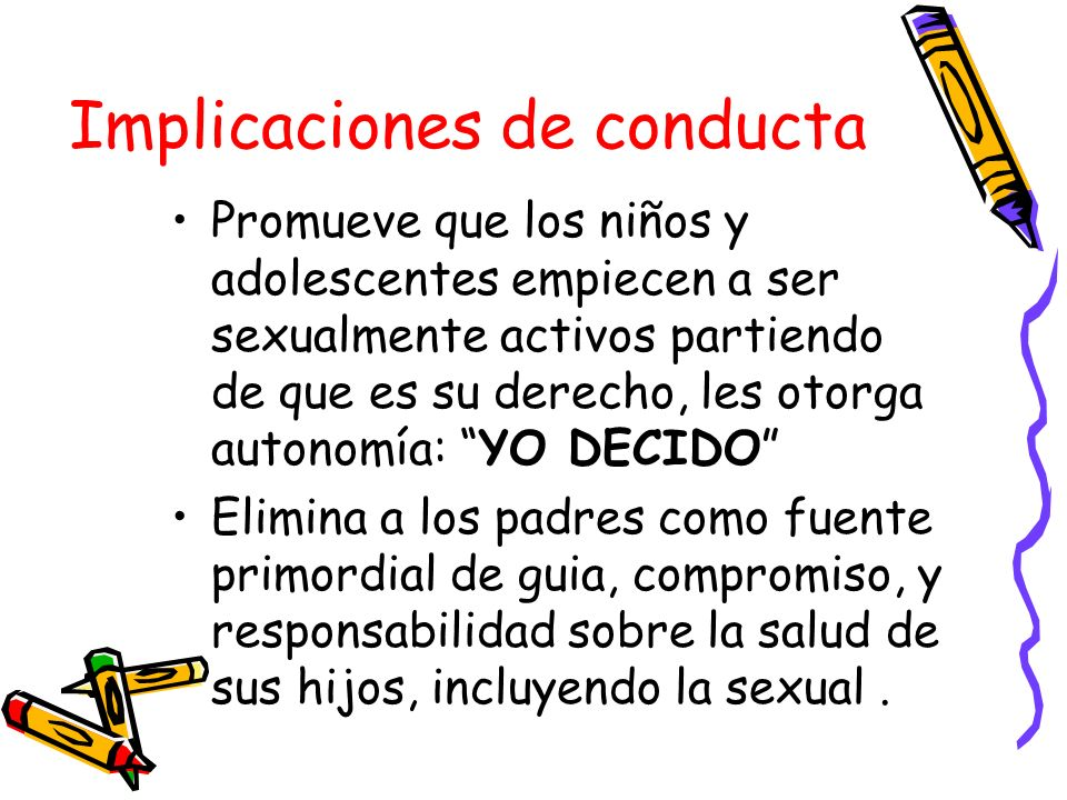 Implicaciones de conducta
