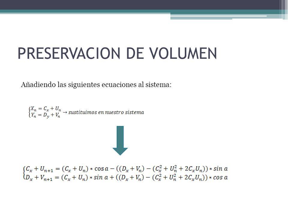 PRESERVACION DE VOLUMEN