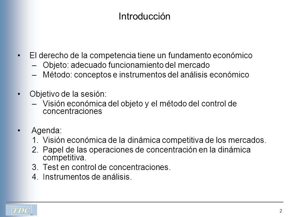 Introducción El derecho de la competencia tiene un fundamento económico. Objeto: adecuado funcionamiento del mercado.