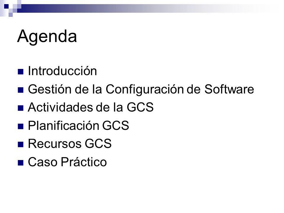 Agenda Introducción Gestión de la Configuración de Software