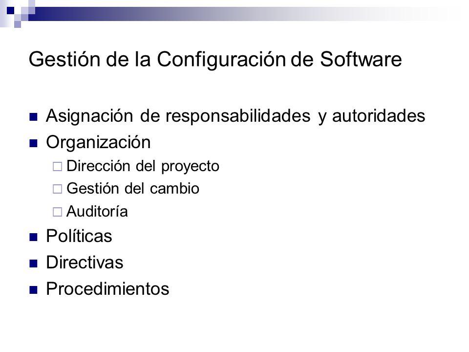 Gestión de la Configuración de Software