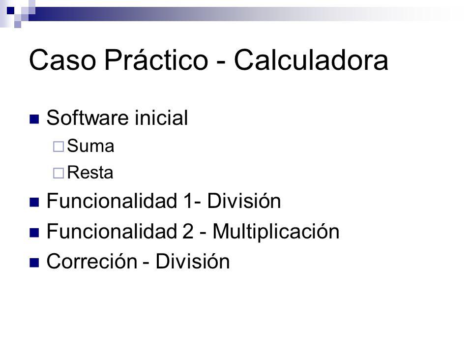 Caso Práctico - Calculadora